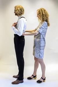 Brudpar i nya kläder
